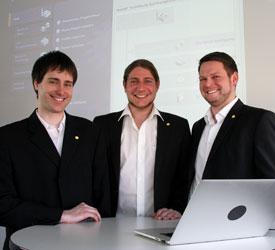 Sie haben das TIA-Portal auf Herz und Nieren getestet: (v.l.) Daniel Rengnath, Johann Weiher, Thomas Zenk. Nicht im Bild: Tobias Graf.