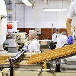 Die Rahmenbedingungen der Lebensmittel- industrie: Reibungsloser Produktionsablauf und hundertprozentige Hygiene.