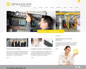 Die Homepage von SPANGLER im neuen Design