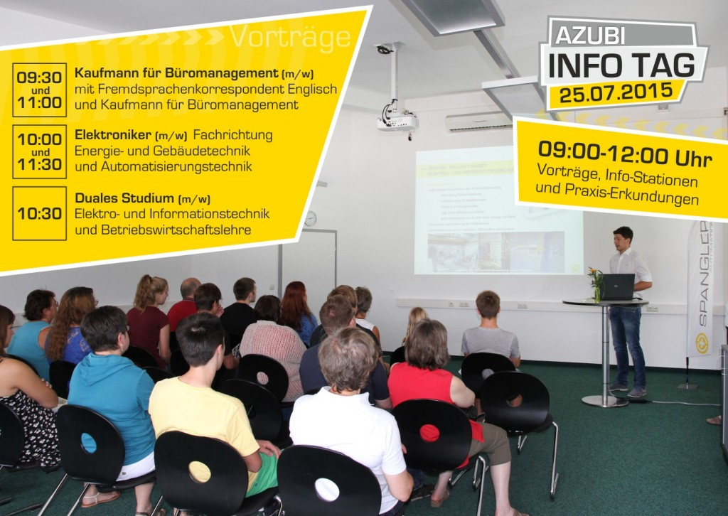 Azubi Info Tag 2015 SPANGLER Automation Vorträge uhrzeit