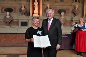 SPANGLER Automation Hannelore Spangler gemeinsam mit Ministerpräsident Horst Seehofer