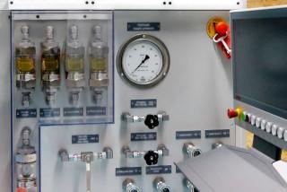Display zum Abruf von Prüfparametern und Programmen