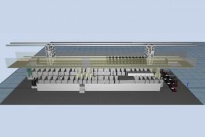 Virtueller Aufbau Fertigungsanlage