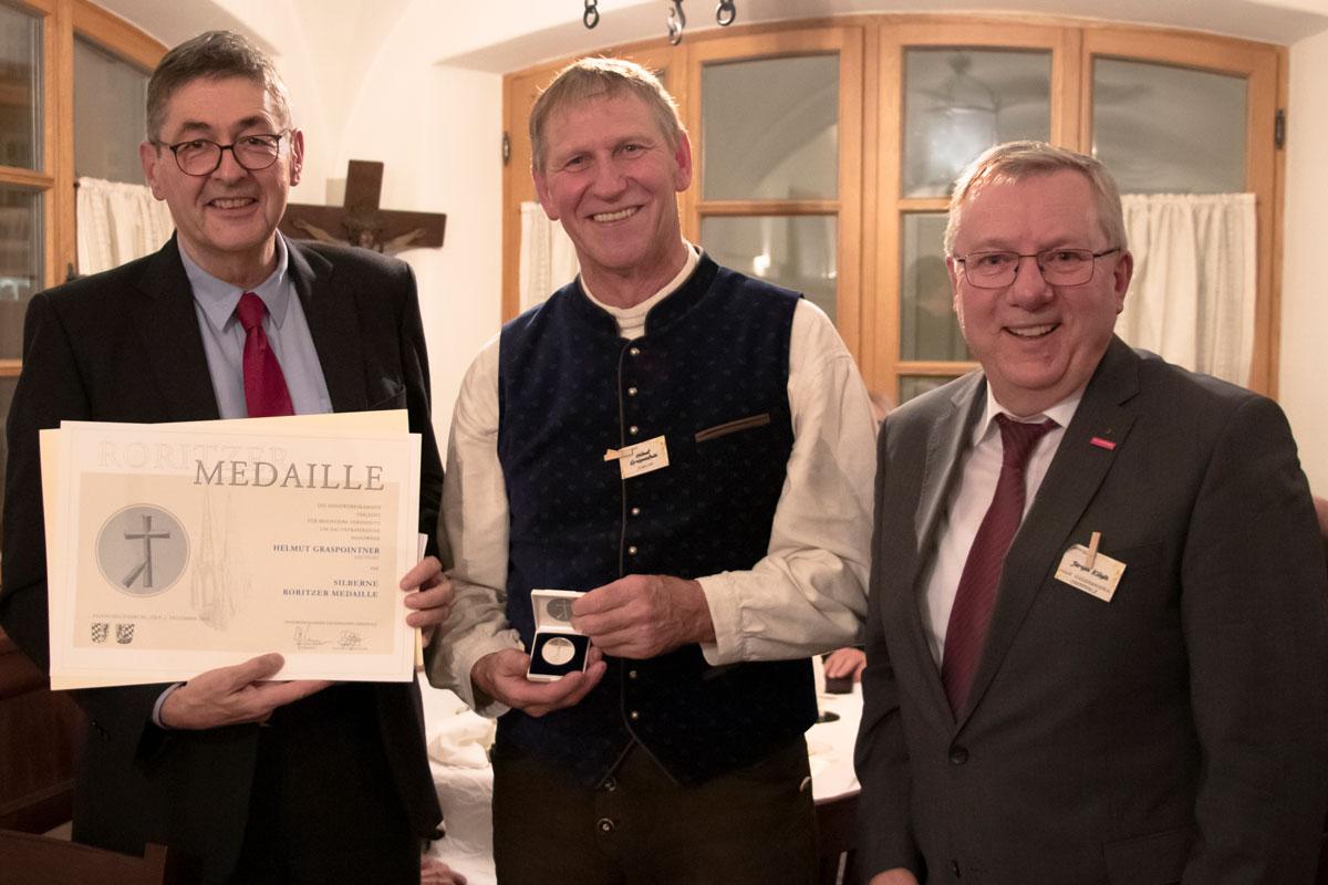 Handwerkskammerpräsident Dr. Georg Haber, Spangler Geschäftsführer Helmut Graspointner, Handwerkskammer Hauptgeschäftsführer Jürgen Kilger