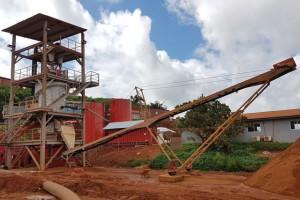 Baustelle in Sierra Leone - Afrika