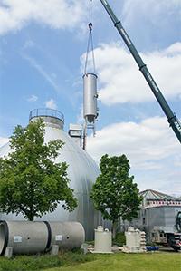 Aufbau des Reaktors für die Desintegrationsanlage